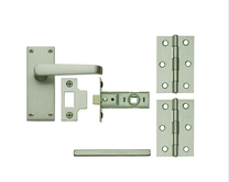 Budget Satin Nickel latch Pack