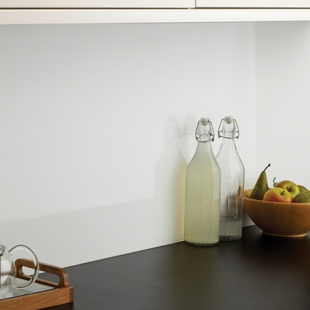 Gloss white backboard kitchen worktop backboards howdens joinery - Kitchen backboards ...