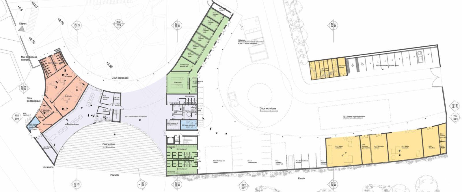 Ground Floor Plan of New Entrance
