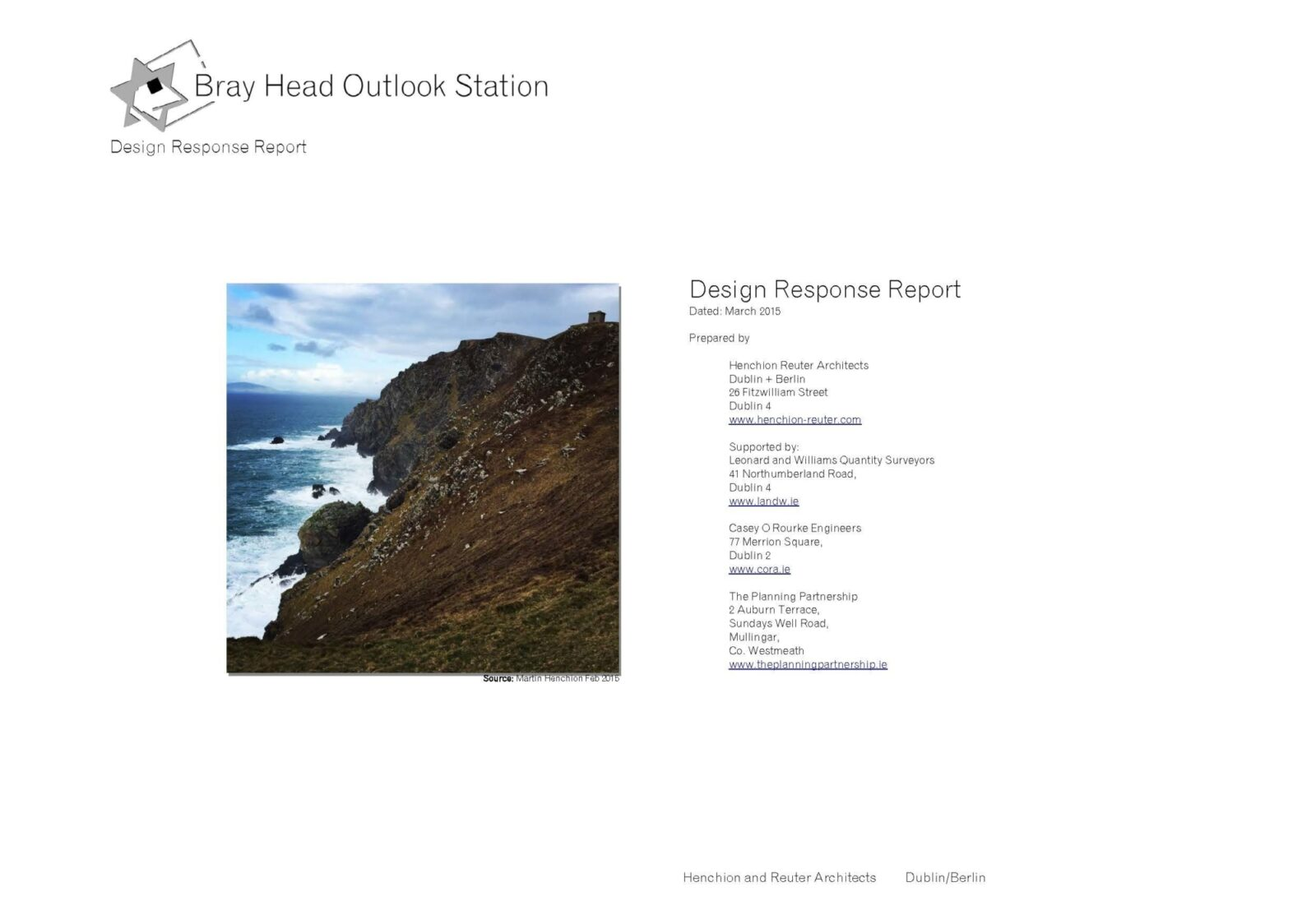 Hra Final Design Response Report Incl Cost Estimate To Be Printed A3 Doublesided Colour Page 03