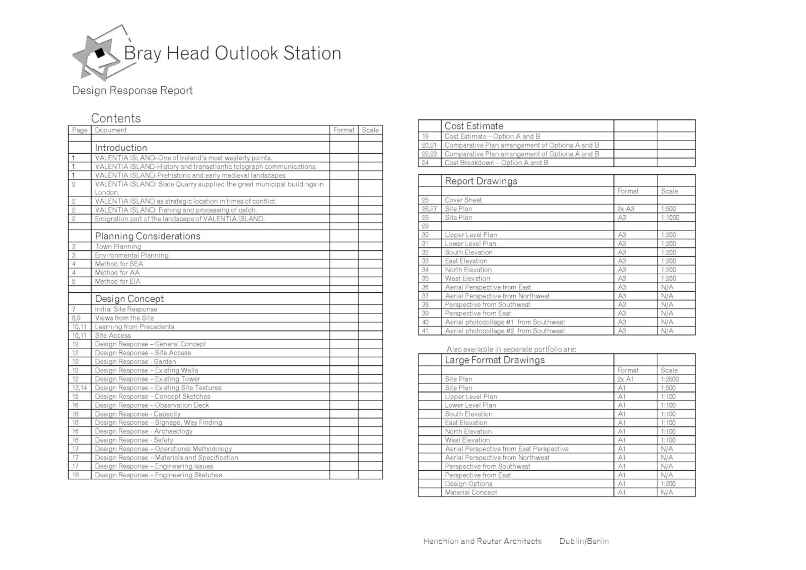 Hra Final Design Response Report Incl Cost Estimate To Be Printed A3 Doublesided Colour Page 04