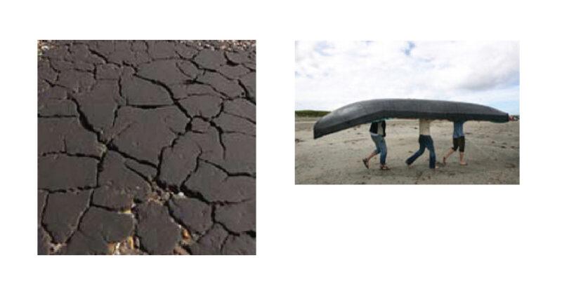 Oberfläche  -teerbeschichteter Beton