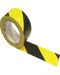 3M 766i sárga-fekete csíkos PVC vinil jelölő ragasztószalag