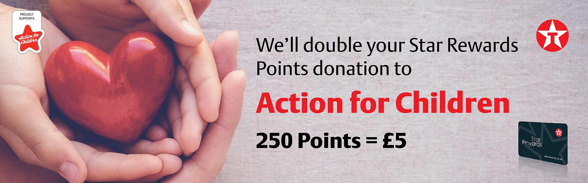 Donate Points to Action for Children