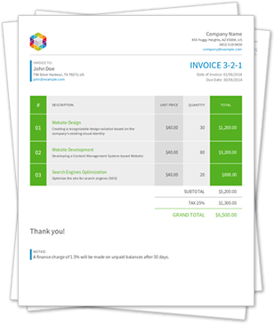 invoice template html with css free download 11 - marianowo org