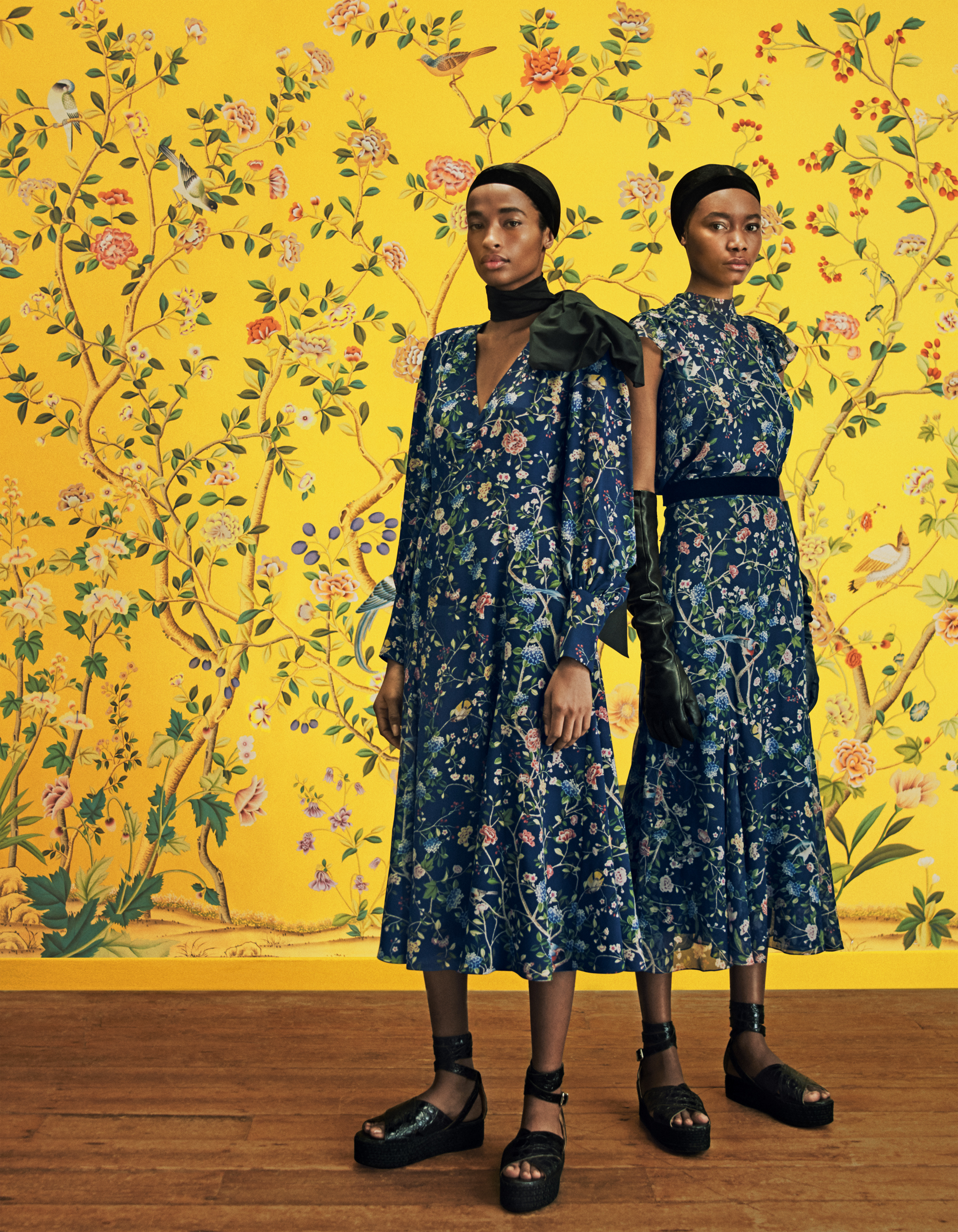 For the wall and the wardrobe – Erdem and De Gournay collaborate