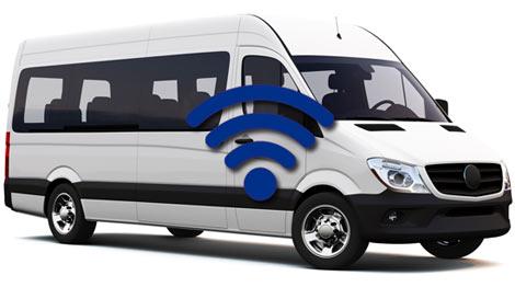 Minibus with Wi-Fi