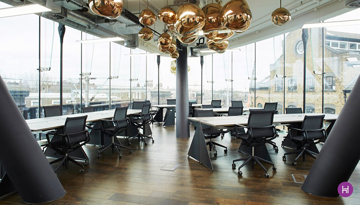 open floor office. Located In The Heart Of Iconic Camden Lock Market And Spread Over Two Floors, Triangle Boasts Uninterrupted Panoramic Views Across London, Open Floor Office