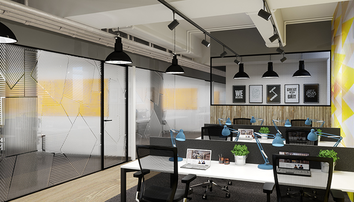 Shared office space in a coworking space in London
