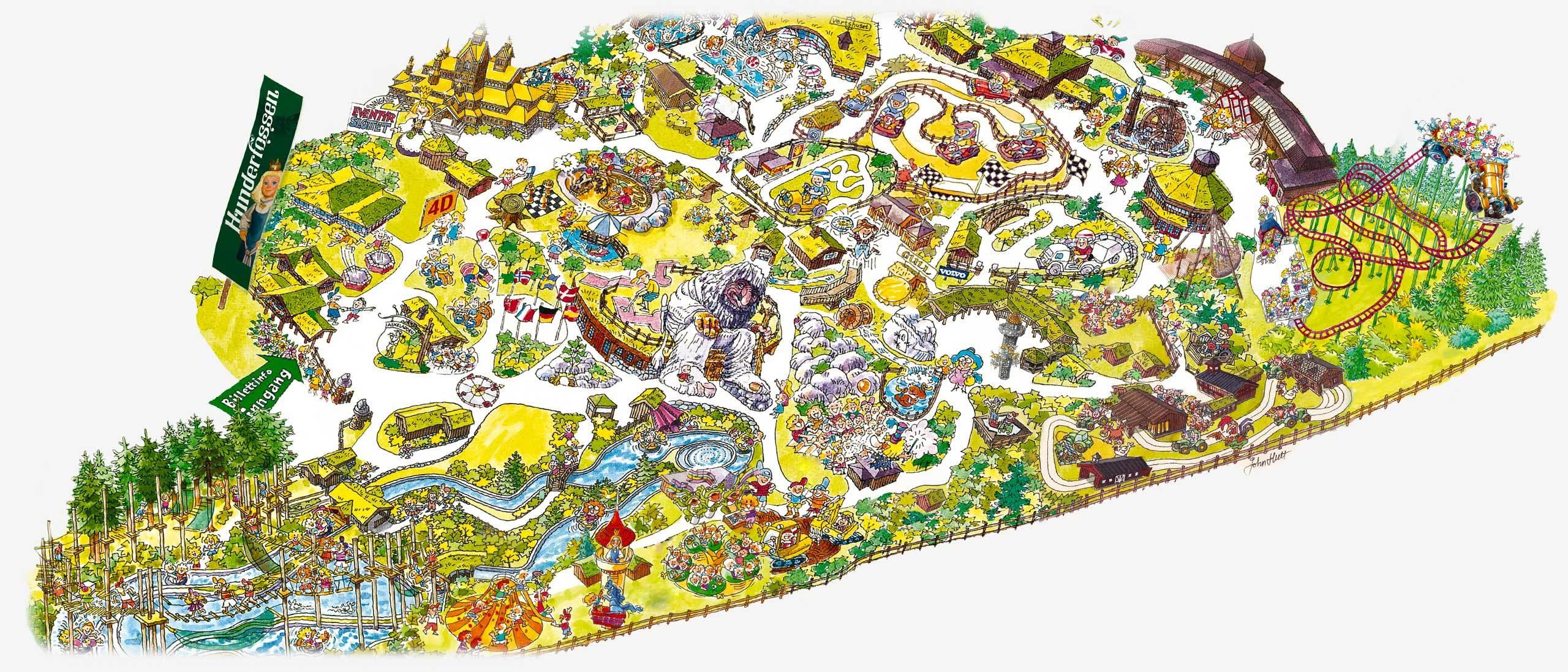 hunderfossen kart Hunderfossen Family Park. The land of trolls and fairy tales in  hunderfossen kart