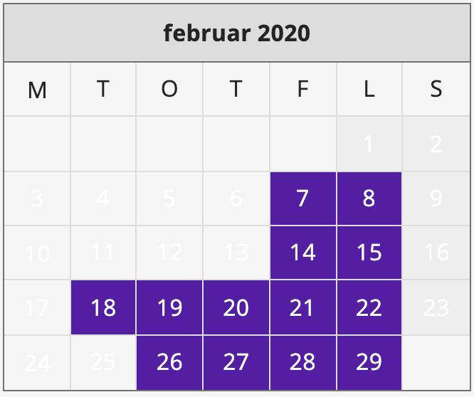 Åpningstider i Februar 2020 Hunderfossen Vinterpark er åpen 7., 8., 14., 15., 18., 19., 20., 21., 22., 26., 27., 28. og 29. februar