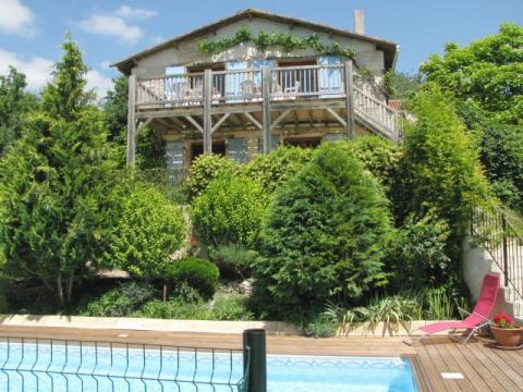 La Grange Chalais view from the pool