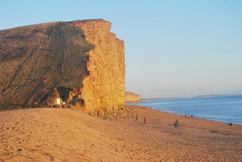 The famous West Bay cliffs