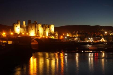 Conwy Castle lights up the night sky