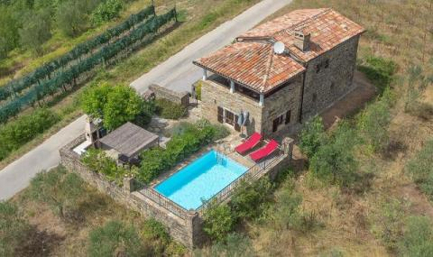 Villa Klarici - Drone view from above
