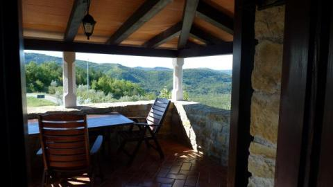 Villa Klarici Motovun - Upstairs Terrace  Book Direct with Owner