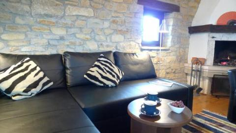 Villa Klarici Upstairs Living Room - TV, DVD etc  Book Direct With Owner