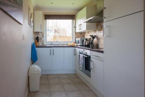 the open plan kitchen