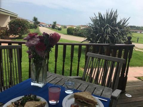 Enjoy a meal on the decking