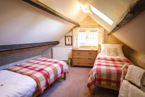 Attic twin bedroom - great hidey hole for older children