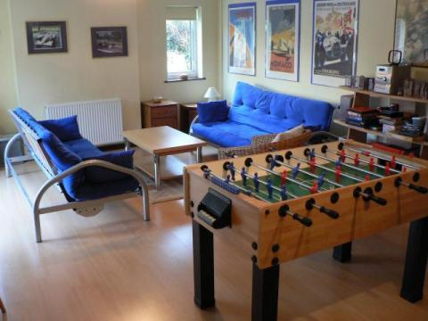 Games room with table football
