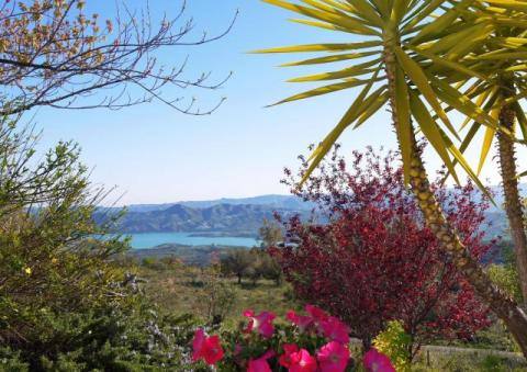 Views of Lake Vinuela from Villa Amapola
