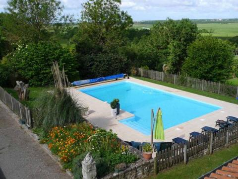 The Heated Pool at Le Vieux Café Holiday Home