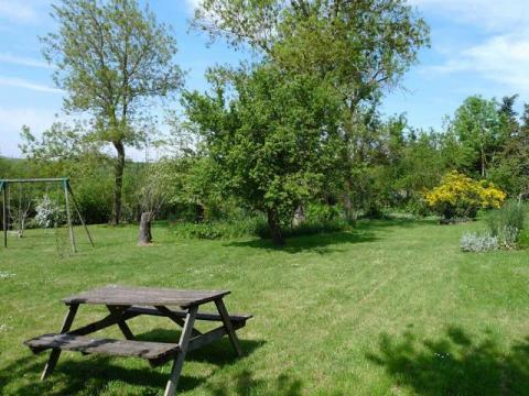 The Large Garden at Le Vieux Café Holiday Home
