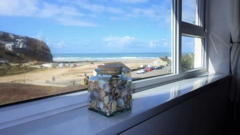 Sea view from Seashells couch