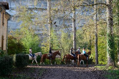 Horse riding in the Vezere Valley