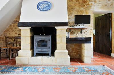 Cosy log burner for cooler evenings
