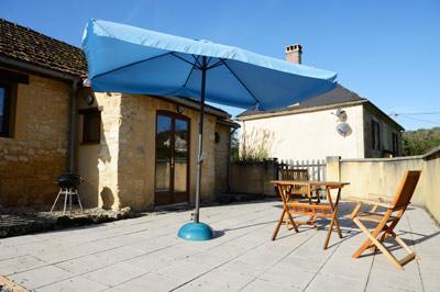 Private patio area