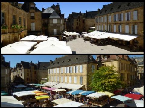 La Liberté Studio Sarlat - view on market/non-market days