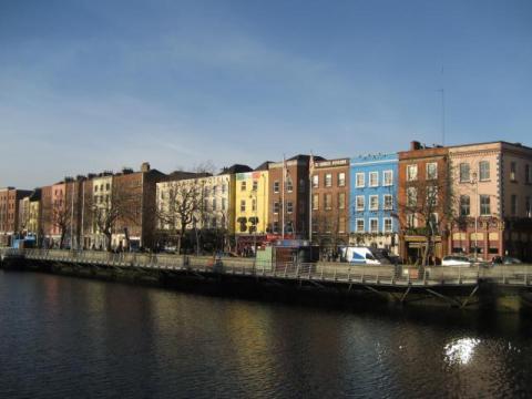 The Liffey River, central Dublin