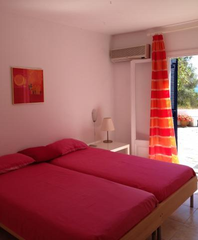Villa Maestrali Red Bedroom with Own East Terrace and Sea View