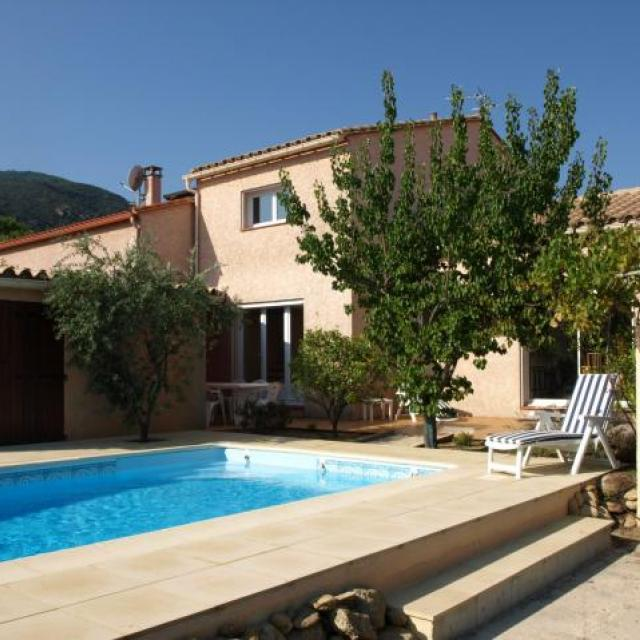 Villa with private heated swimming pool & sun terraces