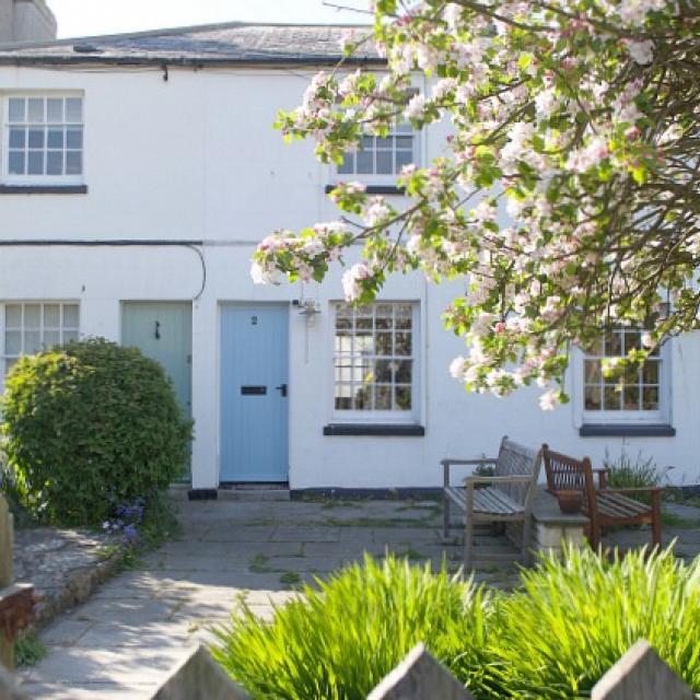Through West Bay Cottage garden gate