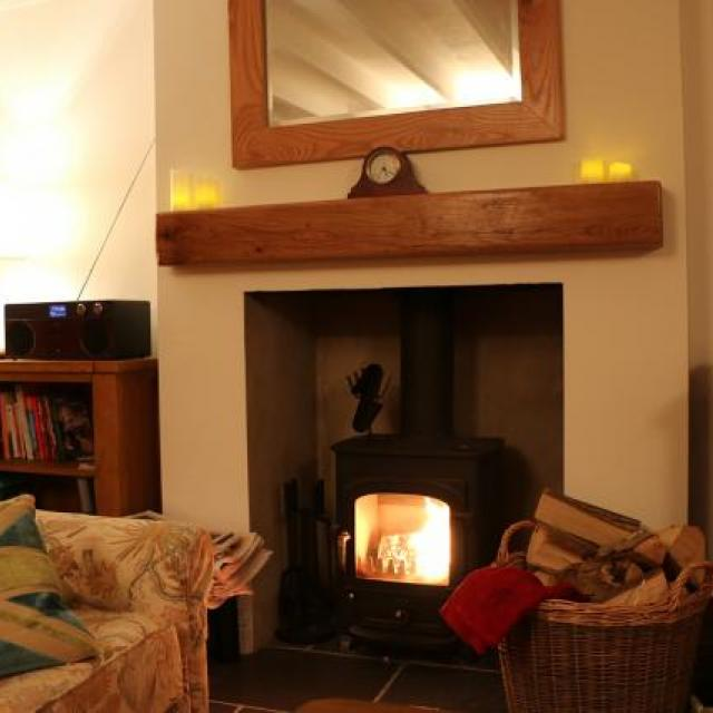 Living room at Moreton Cottage