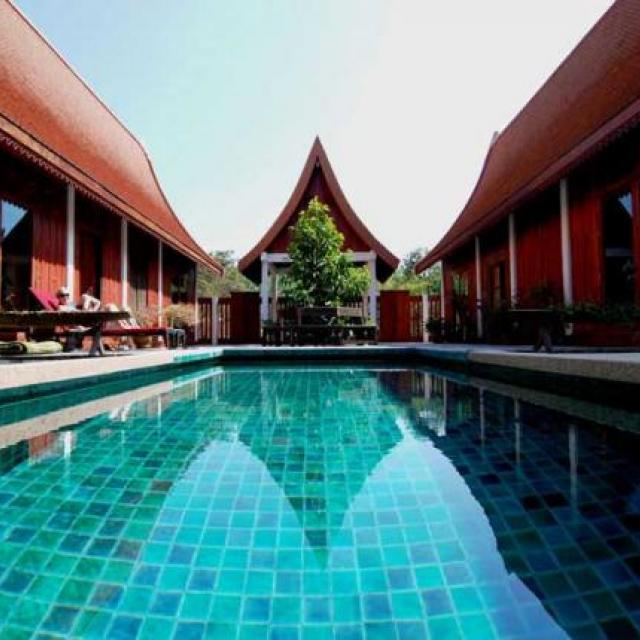 Thailand pool villa rental in countryside