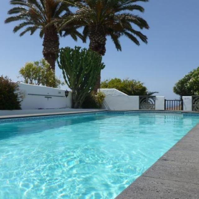 Large private pool at Villa Antonio Lanzarote