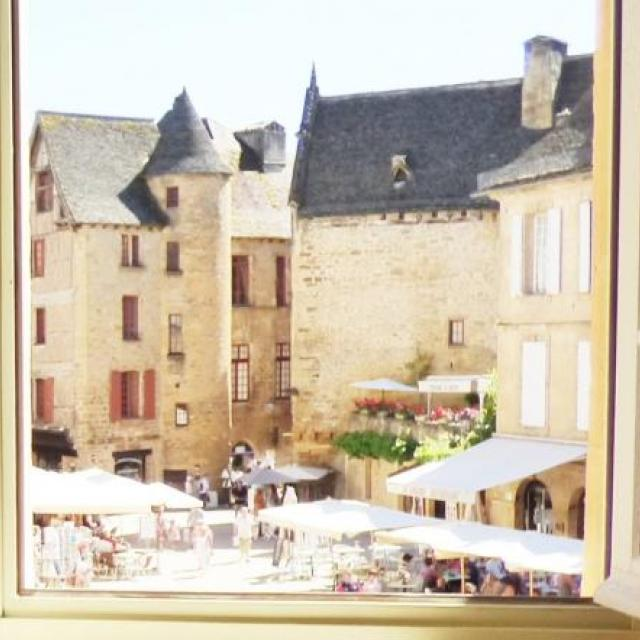 View from La Liberte Studio Sarlat