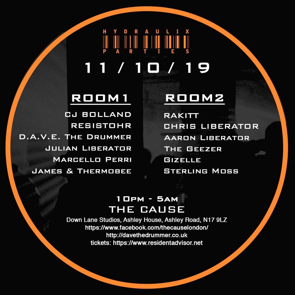 Hydraulix Party - D A V E  The Drummer - Hydraulix Records