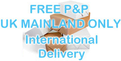 Free P&P UK Mainland only, International delivery