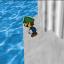 Stranded traveler on a pillar