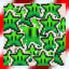 36 Green Stars