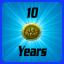 Medal: 10 Years