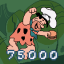 75000 Points