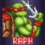 Saves Splinter as Raphael