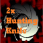 2x Hunting Knife