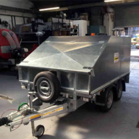 Self Contained Mobile Steam Cleaner Twin Axle Trailer Unit